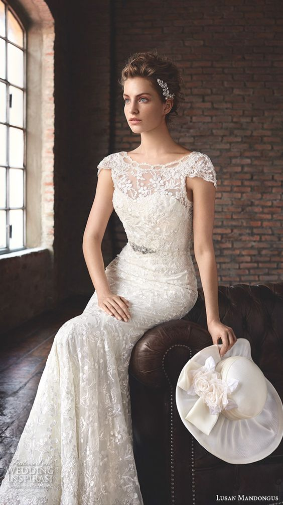 Beautiful Mermaid Wedding Dresses With Sleeves : Lusan mandongus wedding dresses beautiful