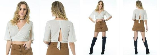Blusa Cropped Creme Miss Masy