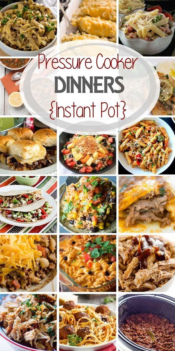 Pressure Cooker {Instant Pot} Easy Dinner Recipes!