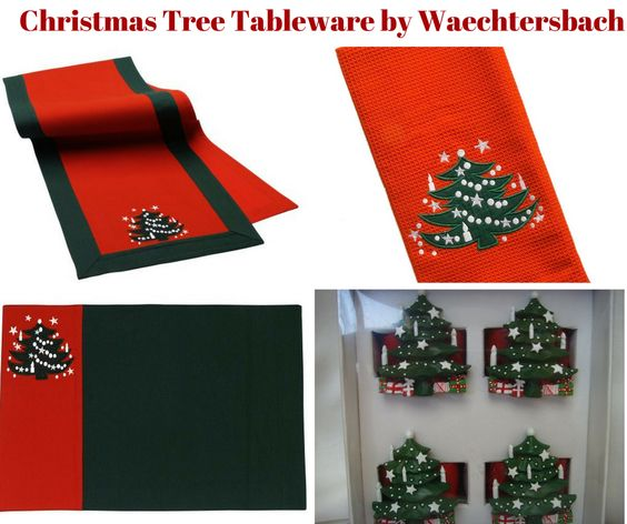 Christmas Tree Table Linens by Waechtersbach
