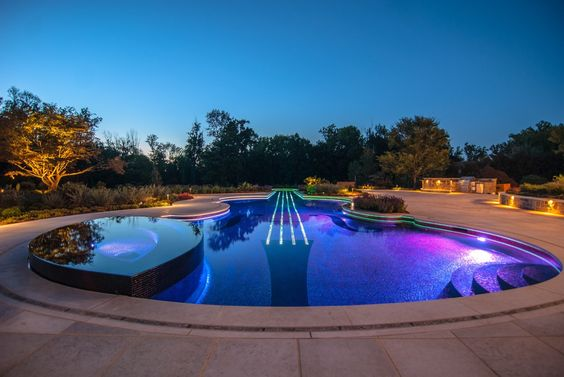 Pool Design, Luxurious Inground Pool Kits With LED Lighting Outdoor Decorations Ideas: In-ground Pools Design Ideas To Make Your Back Yard Amazing