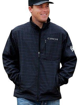 Cinch Western Jacket Mens Bonded Conceal Pockets L Black MWJ1043005