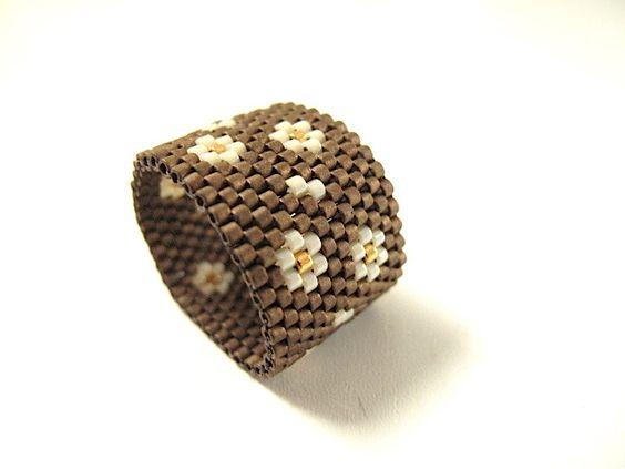 Bague anneau perle