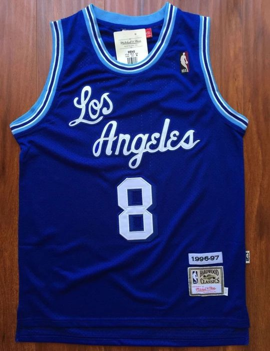 Men 8 Kobe Bryant Jersey Blue Christmas Los Angeles Lakers ...
