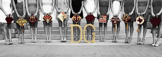Delta Gamma at Arizona State University #DeltaGamma #DG #graduation #letters #sorority #ASU