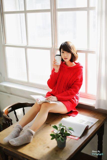 CuteKorean: Bo Mi in red