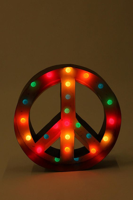 Peace marquee sign.