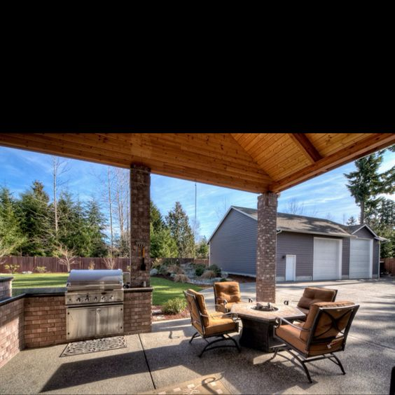 Backyard covered patio with built in bbq ideas for eric for Backyard built in bbq ideas