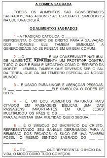 ENSINO RELIGIOSO EM SALA DE AULA: ALIMENTOS SAGRADOS - MATRIZ OCIDENTAL