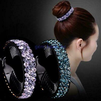Fashion Ladies Crystal Hair Claw Flower Hairpin Clip Ponytail Hair Accessories