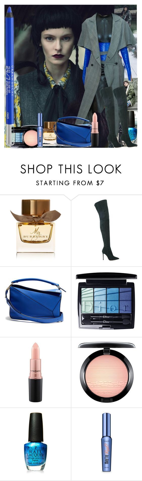 """""""Untitled 1561"""" by ceca-66 ❤ liked on Polyvore featuring Louis Vuitton, Burberry, Gianvito Rossi, Loewe, Christian Dior, MAC Cosmetics, OPI, Benefit and Urban Decay"""