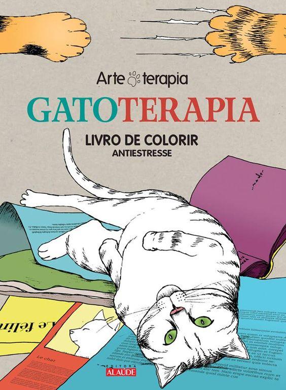 Livro de colorir Gatoterapia