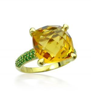 Citrine and Tsavorite Garnet
