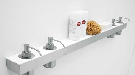 Accessori bagno in acciaio e corian gli accessori pinterest - Accessori bagno in acciaio ...