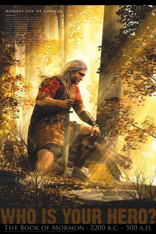 Moroni, filho de Mórmon, tomou os registros depois que seu pai morreu para mantê-los seguros . Ele enterrou -los , e mais tarde (como um ser ressuscitado ) revelou a localização para o profeta Joseph Smith... um dos meus heróis favoritos.