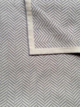 Grey & White - Branberry Herringbone Limited Edition Cot Blanket