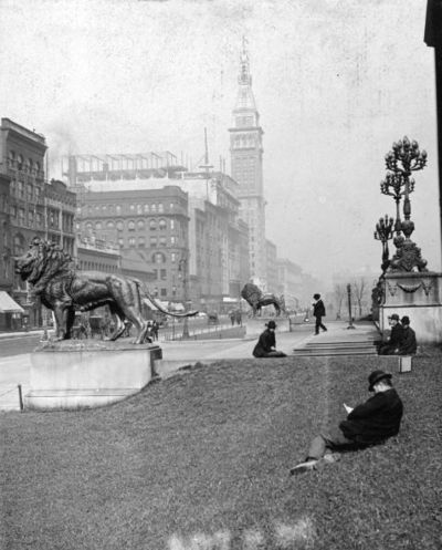 1895. Chicago. Michigan Avenue. The Art Institute.