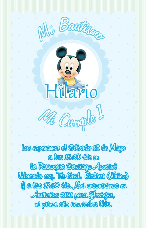 Baby Mickey Mouse 1St Birthday Invitations was awesome invitations example
