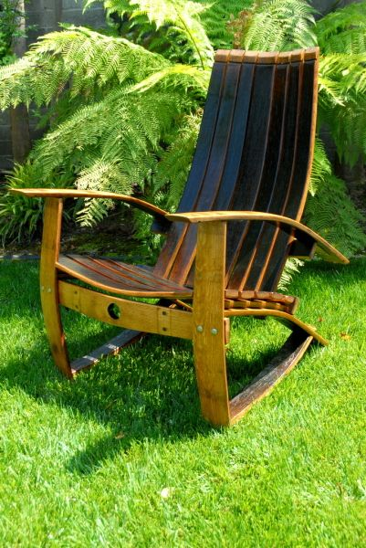 Wine barrel chair gorgeous diy home pinterest for Wine barrel chair diy