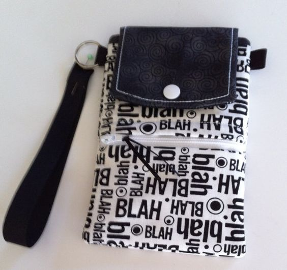 Phone Wallet by EmbroideryStuff on Etsy