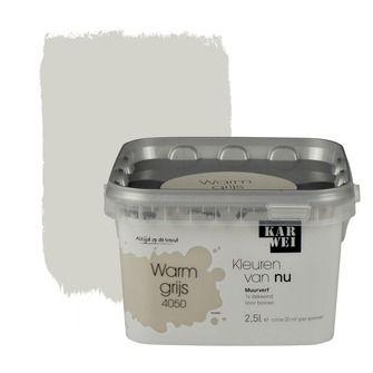 KARWEI Kleuren van Nu muurverf mat warmgrijs 2, alles voor je klus om je huis & tuin te verfraaien vind je bij KARWEI