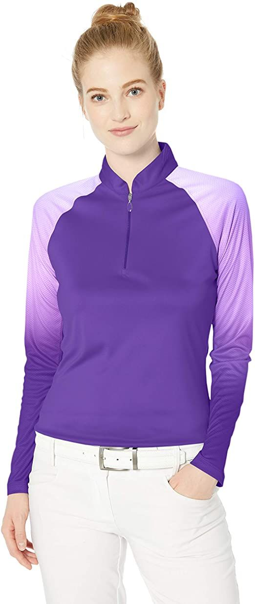 Greg Norman Womens Viceroy S//S Zip Polo