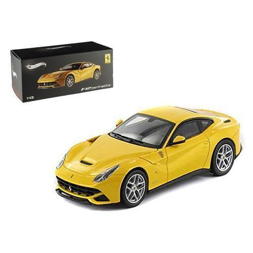 Ferrari F12 Berlinetta Yellow Elite Edition 1 43 Diecast Car Model By Hotwheels Car Model Diecast Cars Ferrari F12