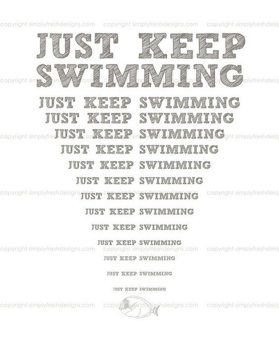 Just Keep Swimming Art