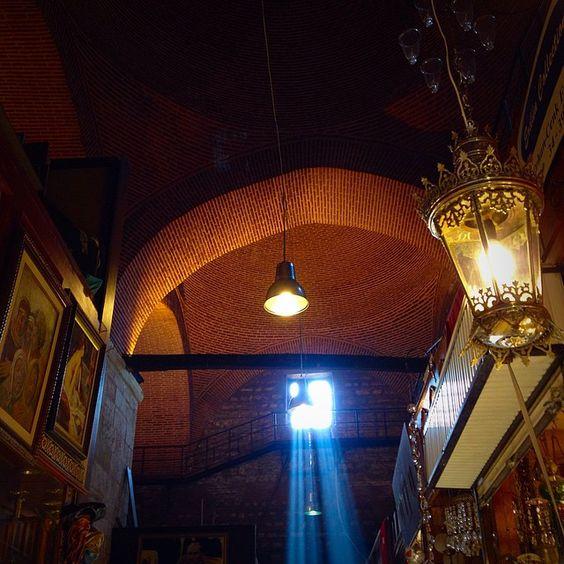 Light streamed through a window on Kit's trip to the Grand Bazaar in Istanbul, Turkey. #takenbyesplanade #grandbazaar #light #market #Istanbul #Turkey #travel #travelbucketlist #wanderlust #bucketlist