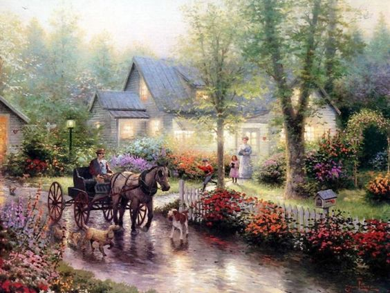 Sunday Outing - Thomas Kinkade - I love his paintings.