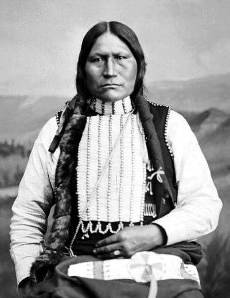 Nia-Wa-Sis (Black Coal), Arapaho. Excellent Portrait. Photographed: 1882.