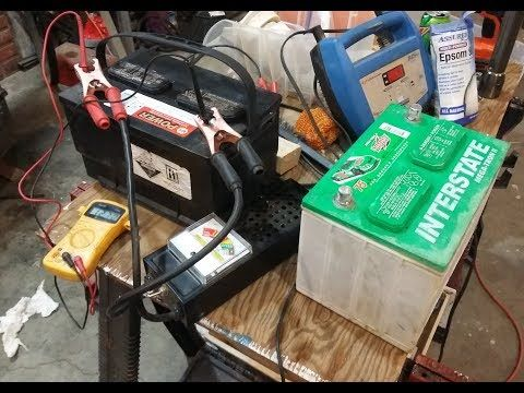 Restoring Car Truck Rv Batteries Testing Them Cheap Fast And Easy Youtube Car Battery Water Car Battery Lead Acid Battery