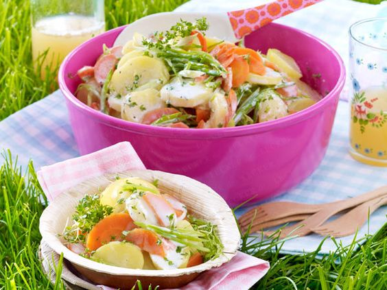 Picknick-Rezepte - bunter Kartoffelsalat