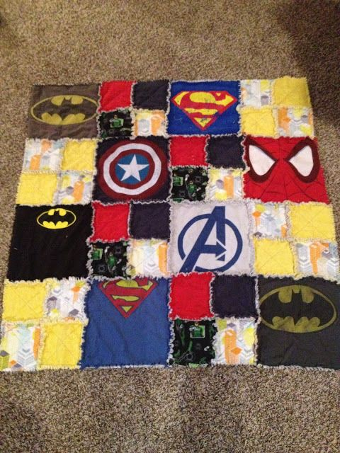 superhero tshirt quilt great sewing project for a baby