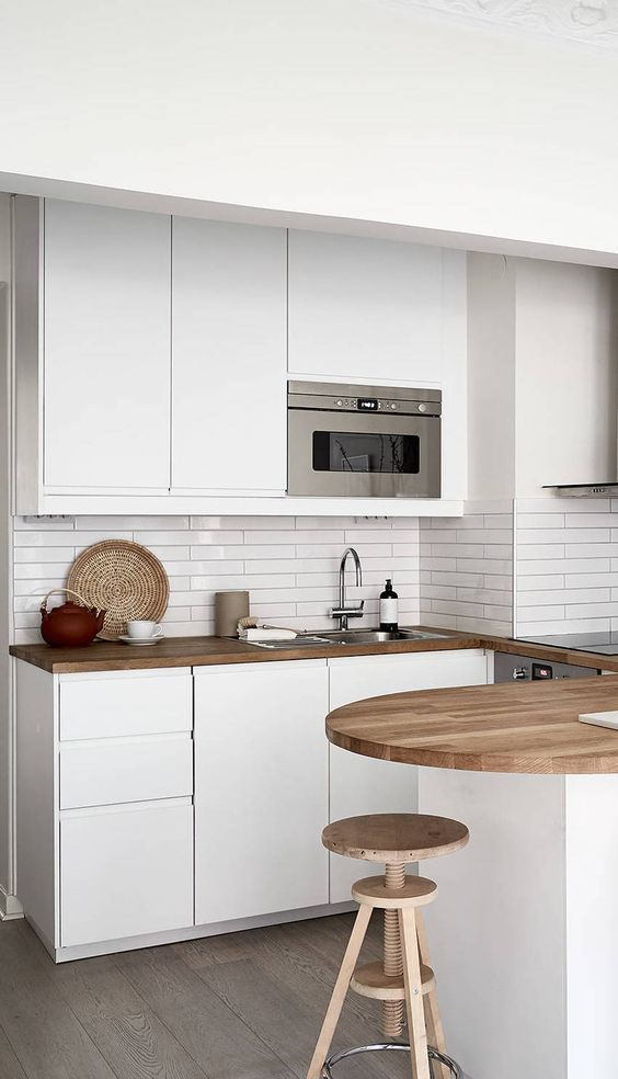Cuisine design blanche brillante style scandinave  implantation - brillante kuchen ideen siematic