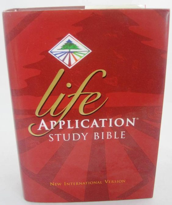 1995 NIV Life Application Study Bible LARGE PRINT Out of Print Hardcover NICE…
