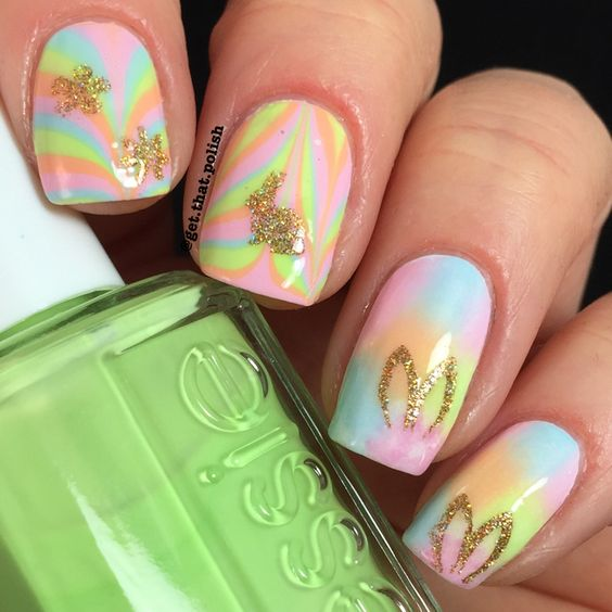Nail art ideas for easter. Detailed description for this look on Instagram post by @get.that.polish