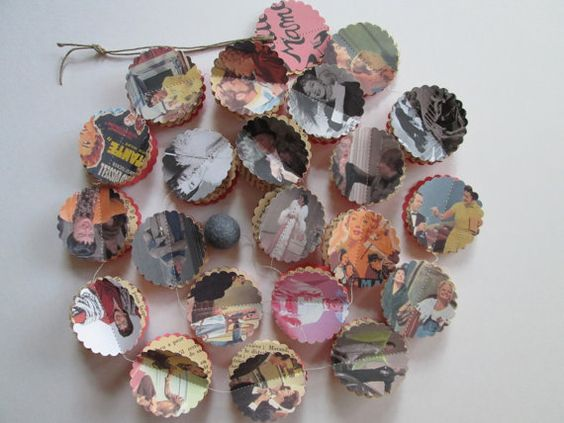 Auntie Mame  Vintage Inspired Paper Garland by futtatinni on Etsy, $10.00