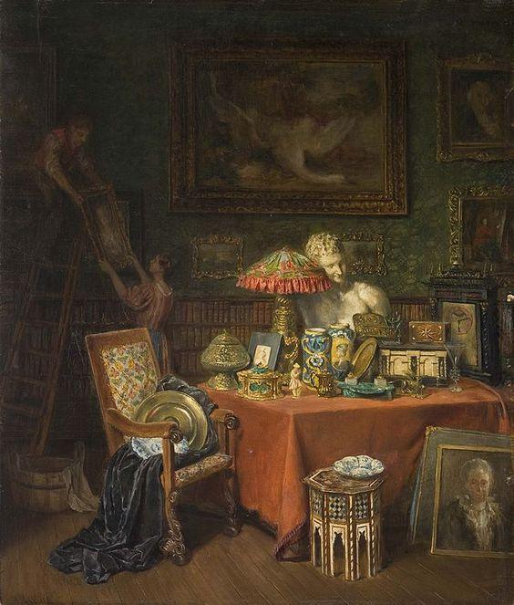 "Anna Marie Wirth (1846–1922). ""Schloss-Interieur-Szene"", 1922."