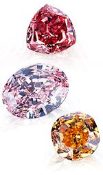 Unlike colorless and near-colorless diamonds, fancy-color diamonds are evaluated less for brilliance or fire and more for color intensity. GIA.
