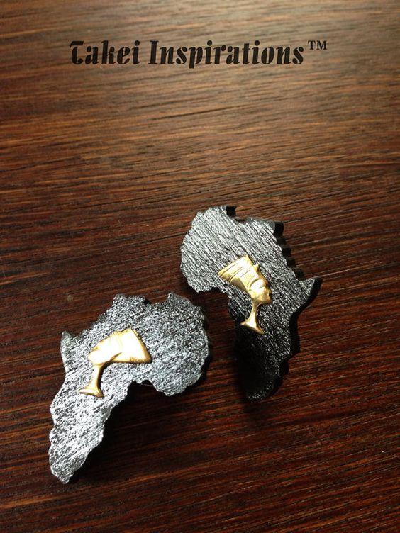 Les boucles d'oreilles Néfertiti Afrique par TakeiInspirations, $11.00
