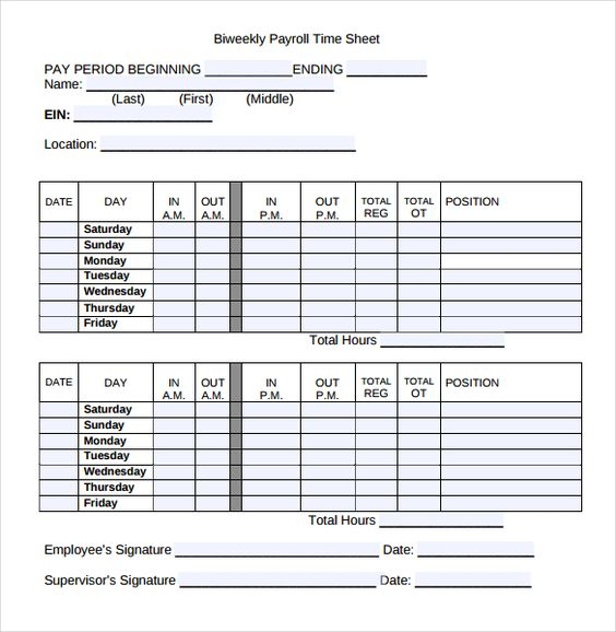 payroll timesheet templates free sample example format weekly - attendance register sample