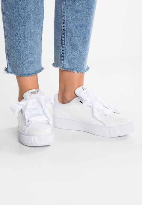 VIKKY PLATFORM RIBBON P Joggesko white @ Zalando.no