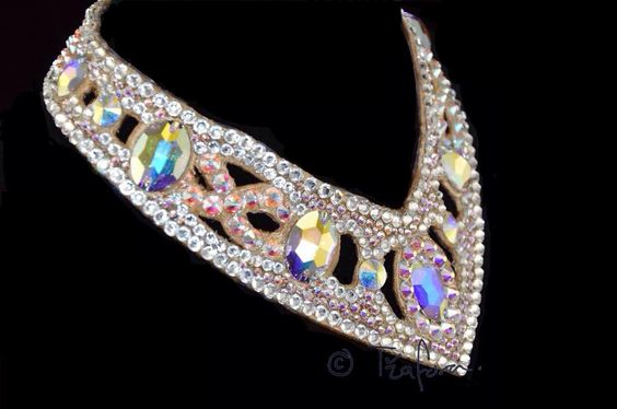 Crystal ballroom jewelry.