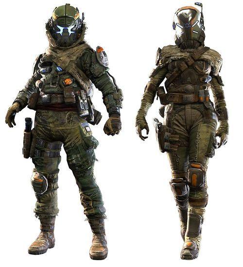 assault militia pilot titanfall artworks military and war