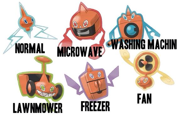 how to change rotom form