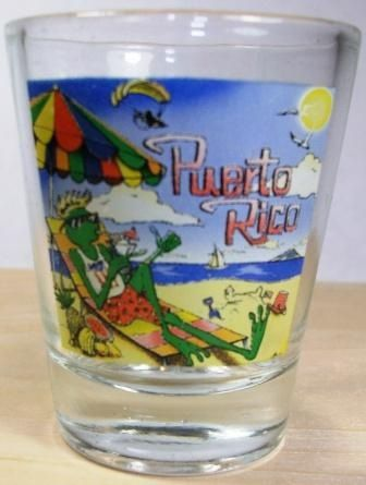BEACH COQUI SHOT GLASS.
