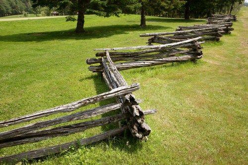Criss-cross Wooden Fence
