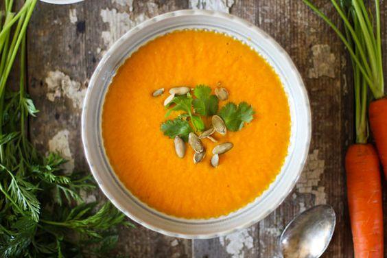 Carrot Orange & Ginger Soup // nutritionstripped.com #vegan #dinner # ...