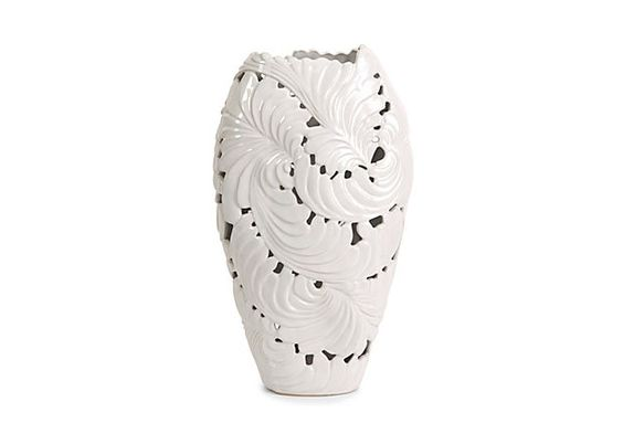 "Ortiz Cutwork Leaf Vase, Large, 16.5""h on OneKingsLane.com"